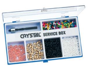 Crystal Service box ( sada na opravu lyží ) Montana